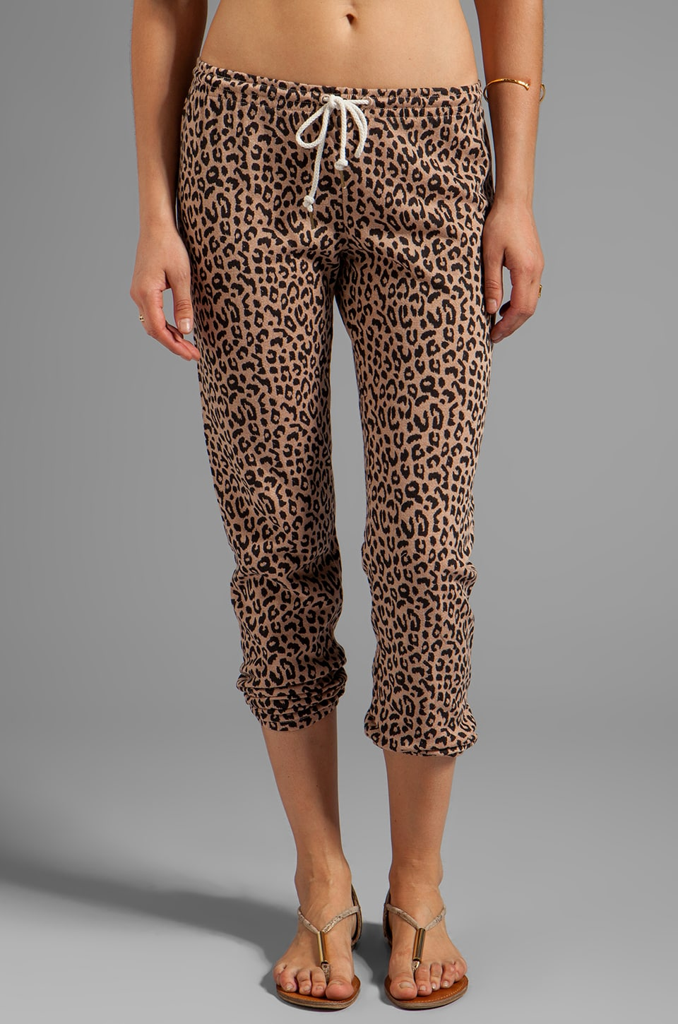 Obey Lola Drawstring Sweatpant in Clay