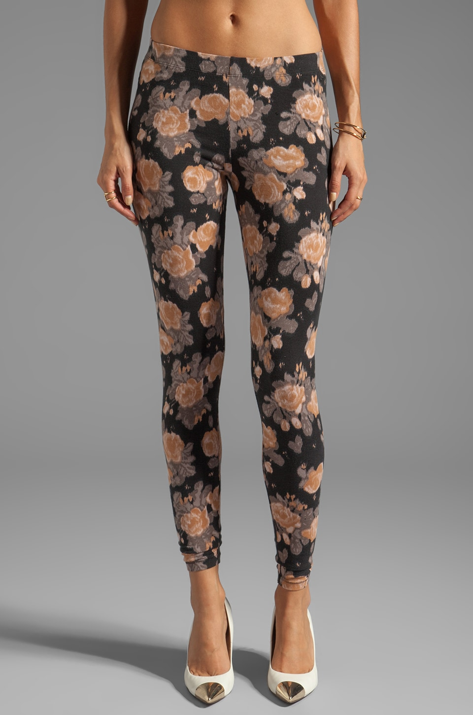 Obey Midnight Special Leggings in Mauve Floral
