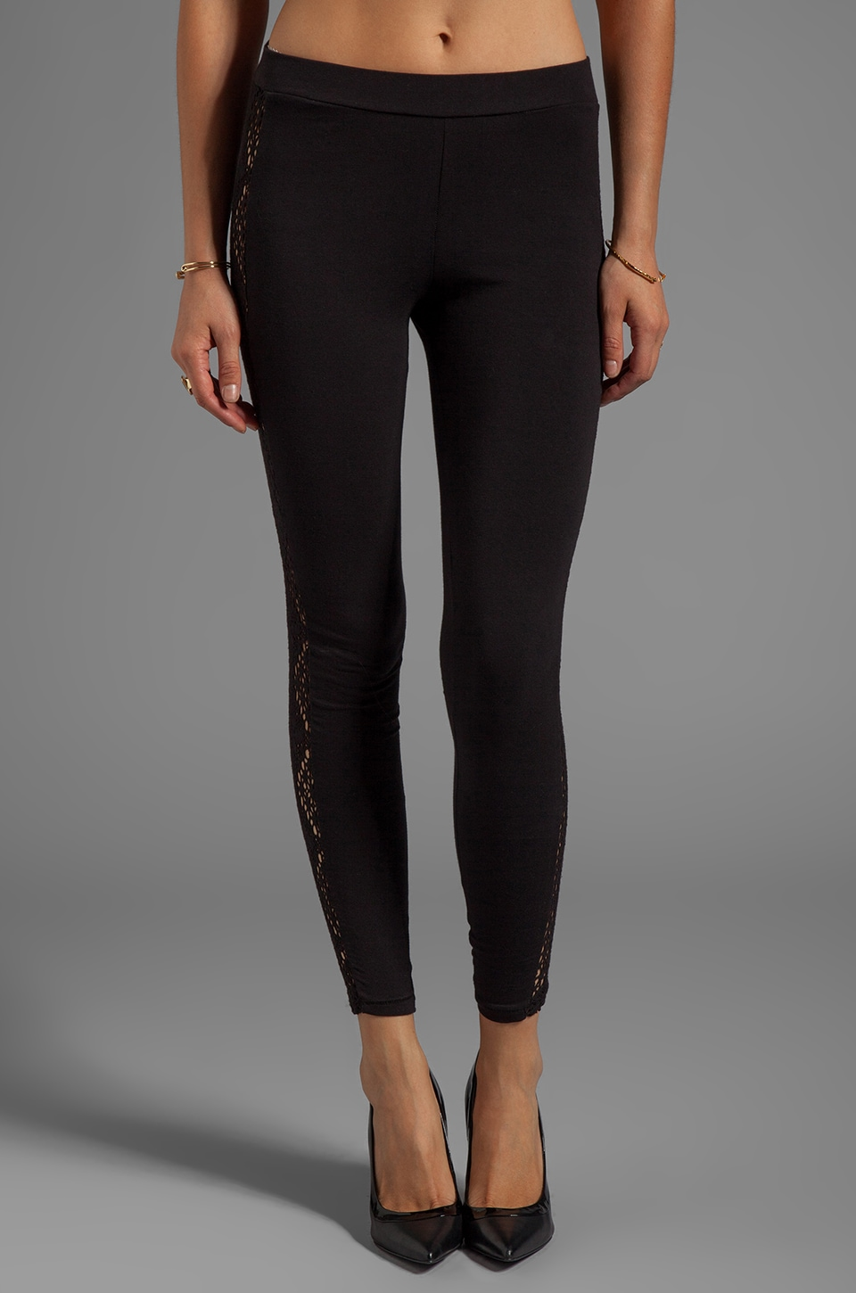 Obey Sweet Leaf Leggings in Black