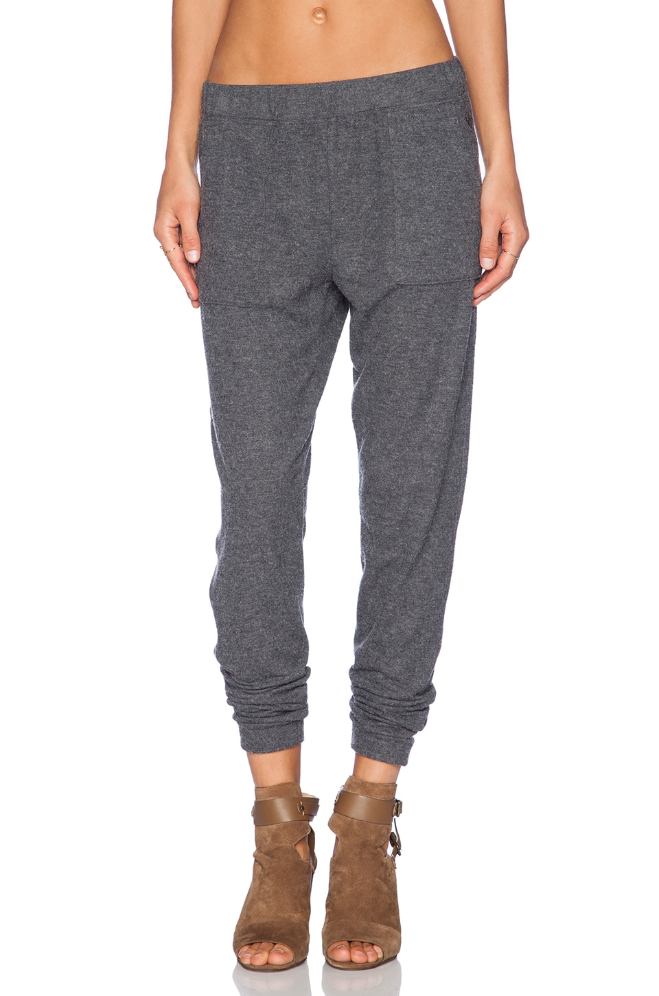 Obey Hartley Pant in Heather Charcoal