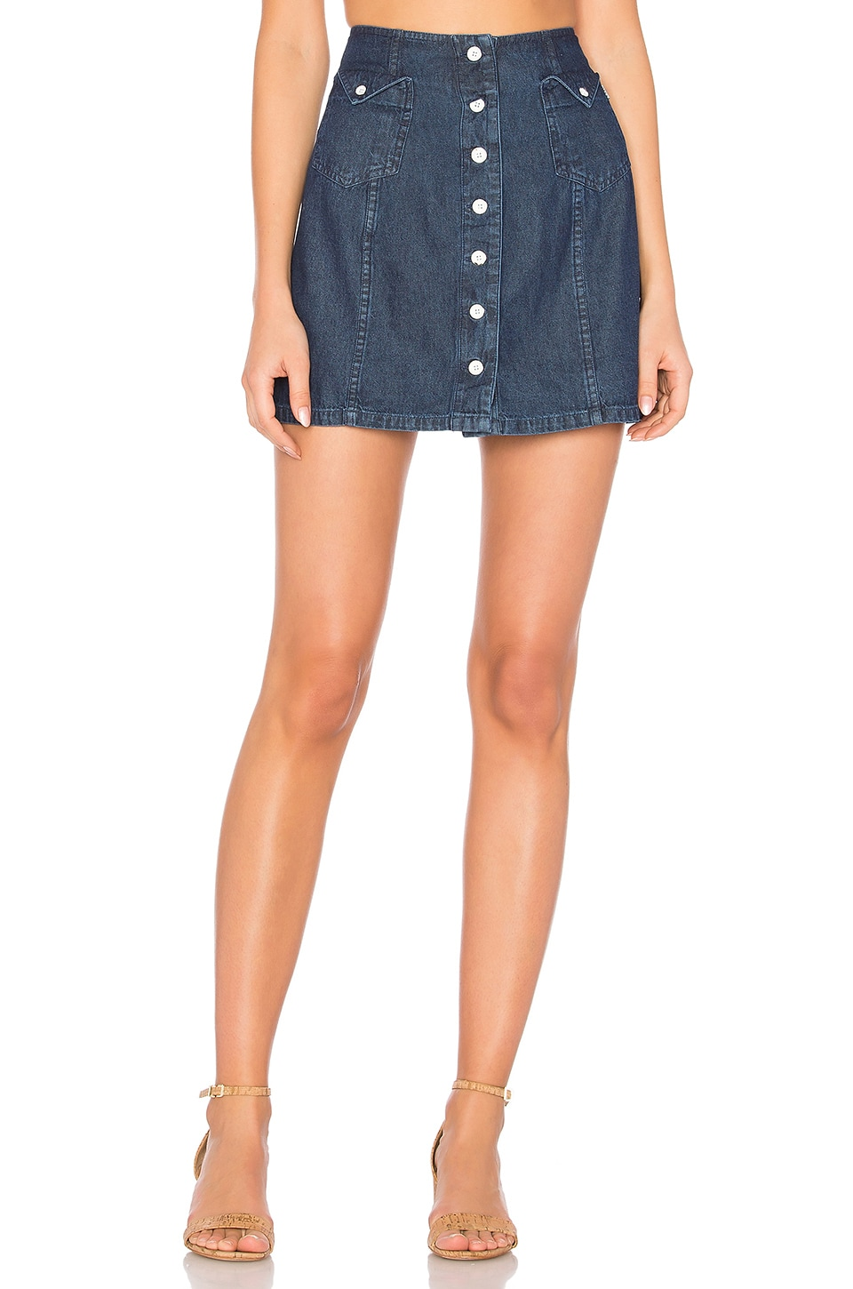 Obey Hudson Skirt in Indigo