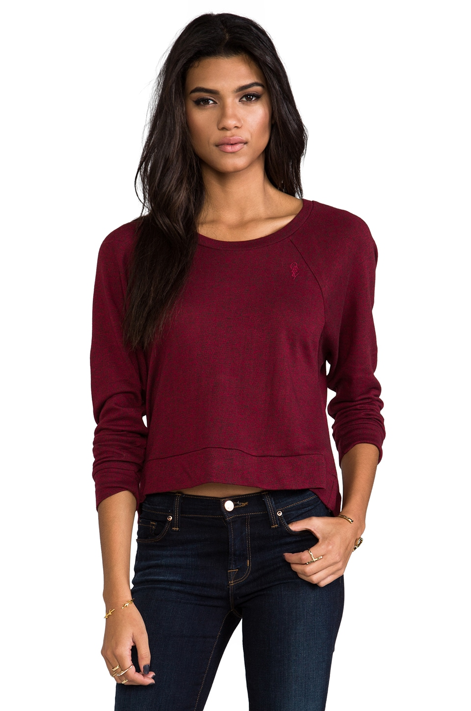 Obey Endless Skies Top in Tibetan Red