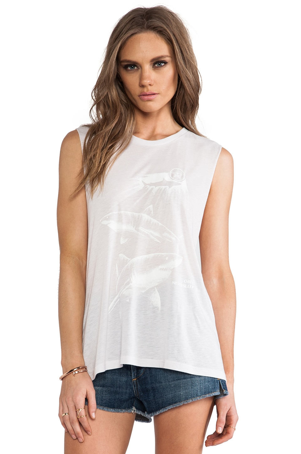 Obey Never Sleep Tank in Orchard Tint
