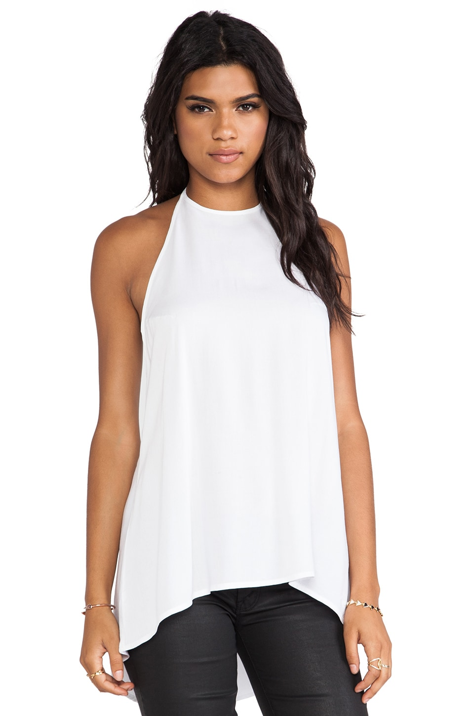 Obey Bowery Halter Tank in White