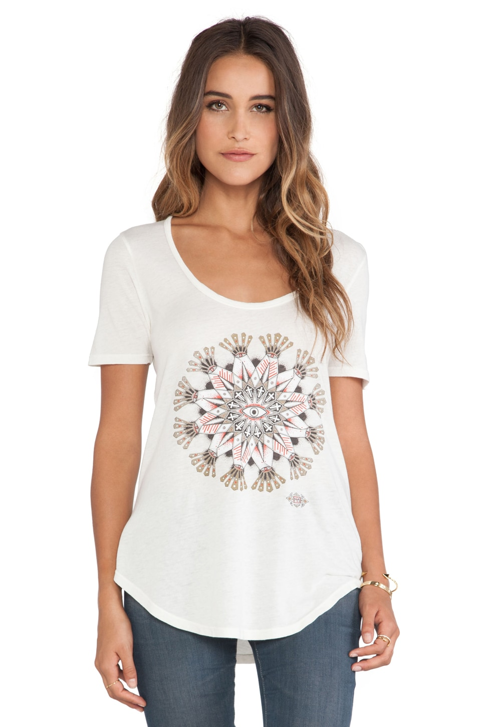 Obey Eye Mandala 2 Tee in Dusty Off White