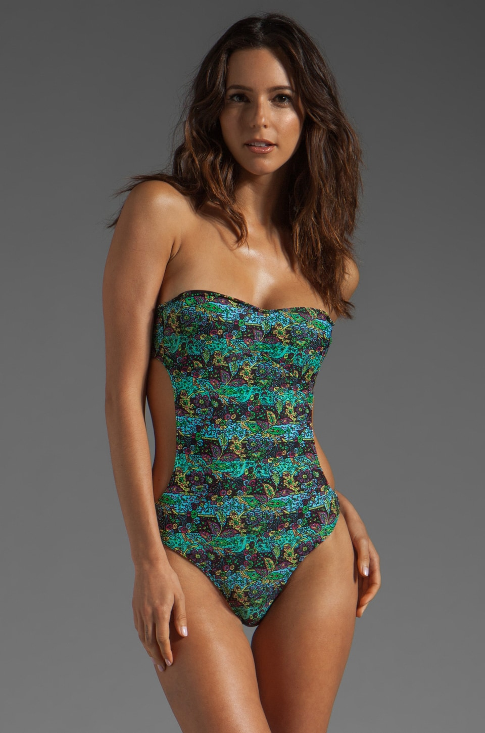 Obey Vintage Paisley One Piece in Blue Radiance