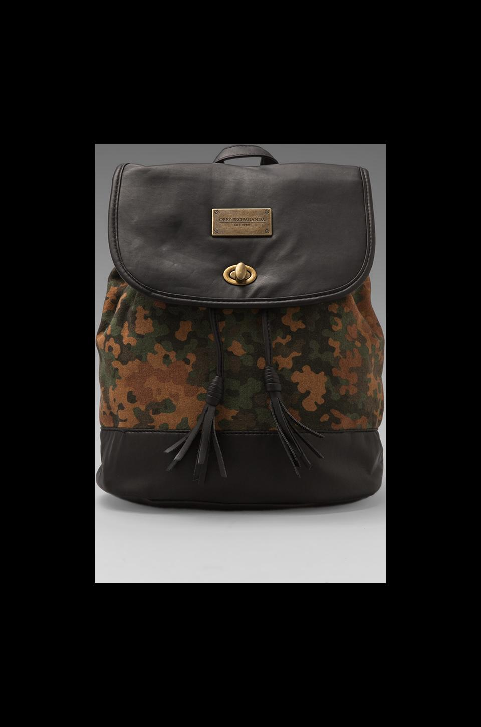 Obey Berlin Rucksack Convertible Backpack/Purse in Multi