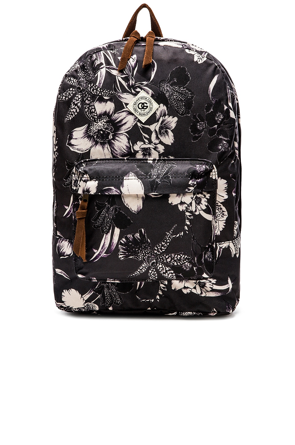 Obey Dark Orchid Backpack in Black Multi