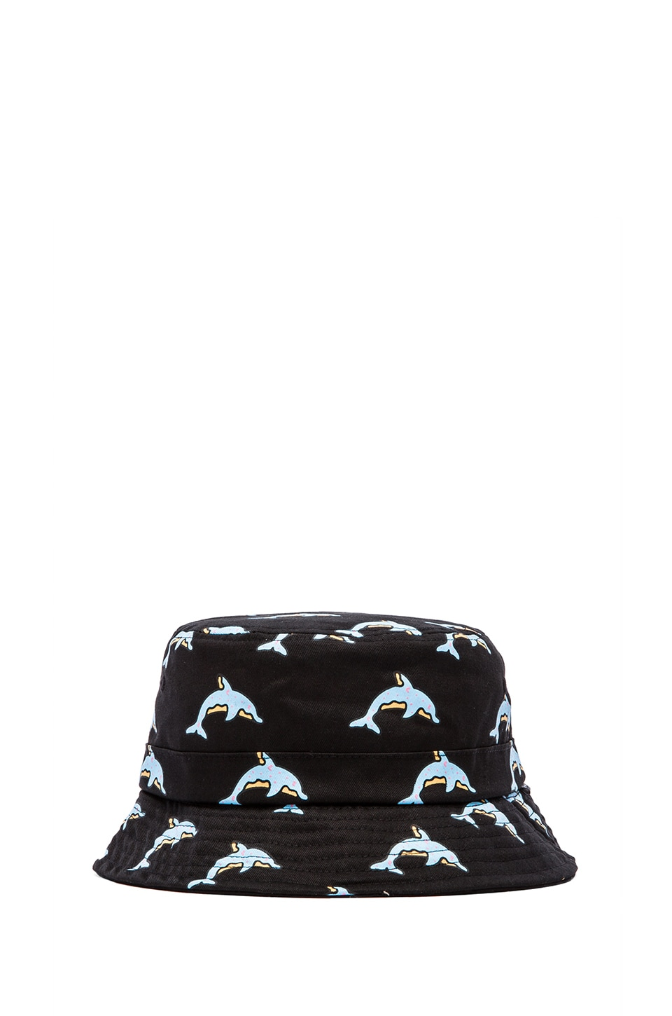 Odd Future Dolphin Donut All Over Bucket Hat in Black