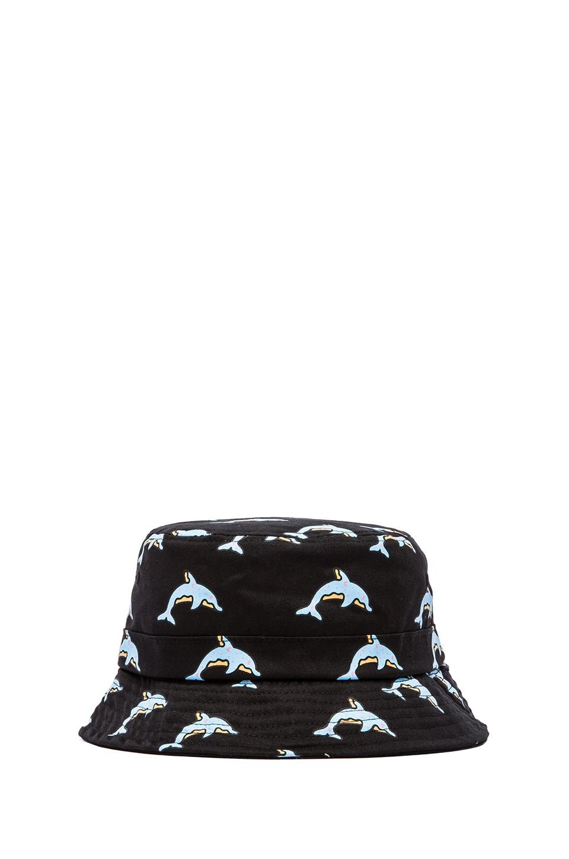 Odd Future Dolphin Donut All Over Bucket Hat in Black