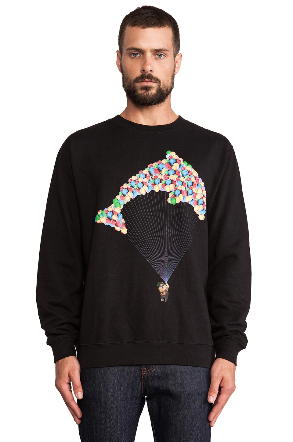 Odd Future Jasper Dolphin Crewneck in Black