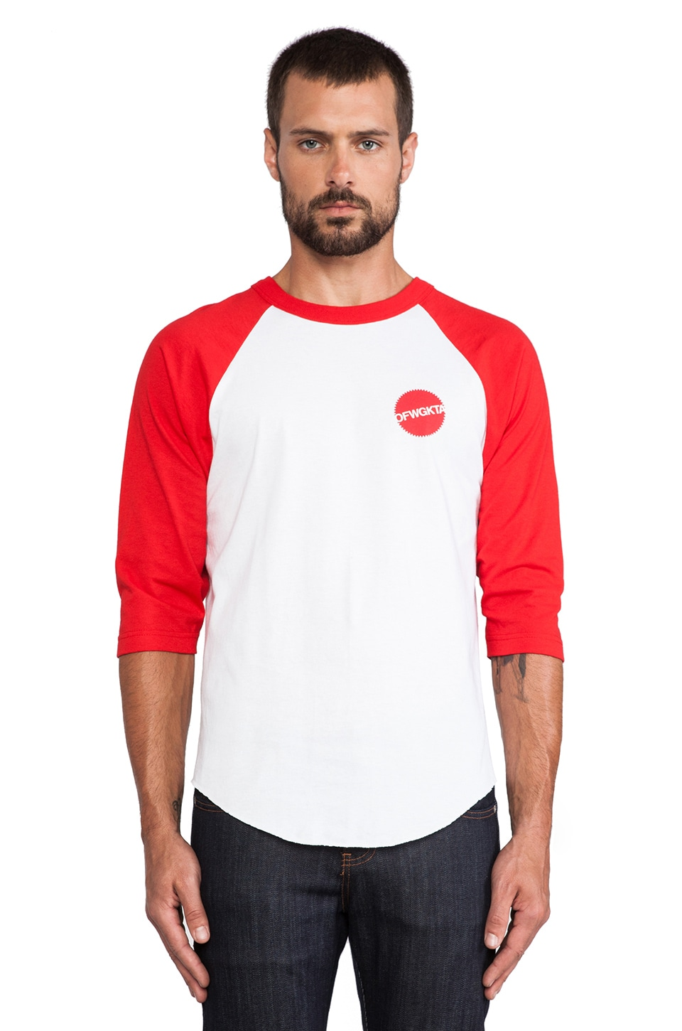 Odd Future MH Toys Raglan Jersey in Red/White
