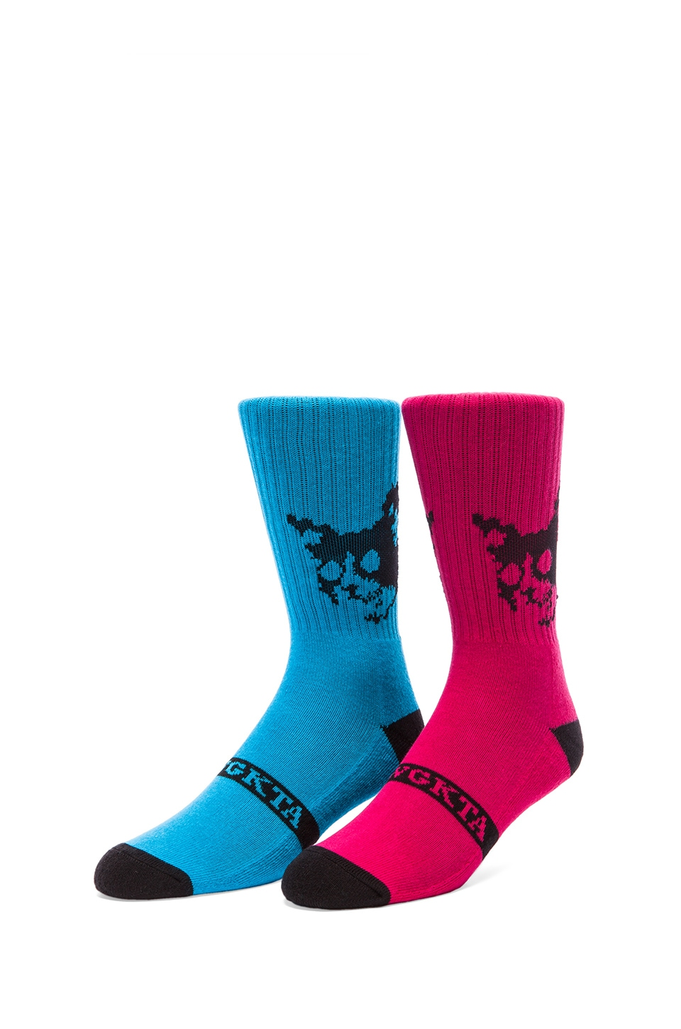 Odd Future Kill Cat OFWGKTA Sock in Blue, Kill Cat OFWGKTA Sock in Red