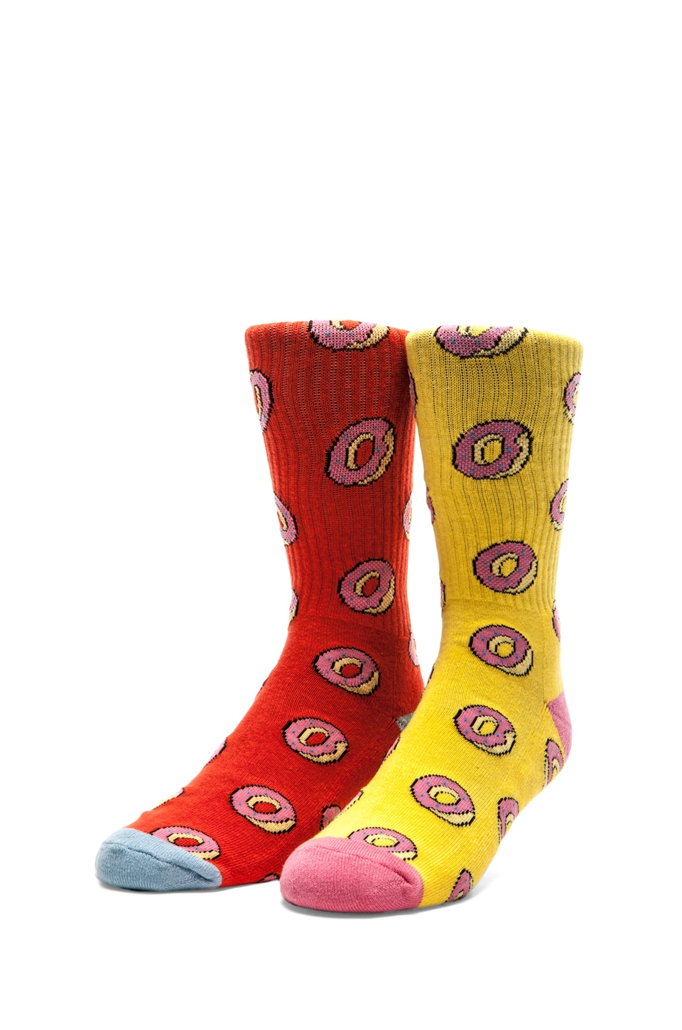 Odd Future All Over Donut Socks in Red, All Over Donut Socks in Yellow