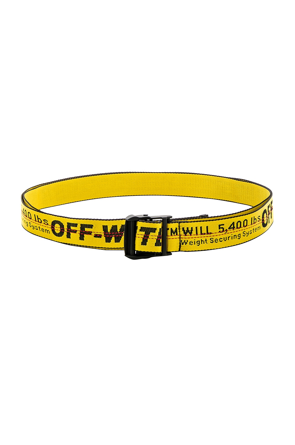OFF-WHITE Industrial Belt in Yellow