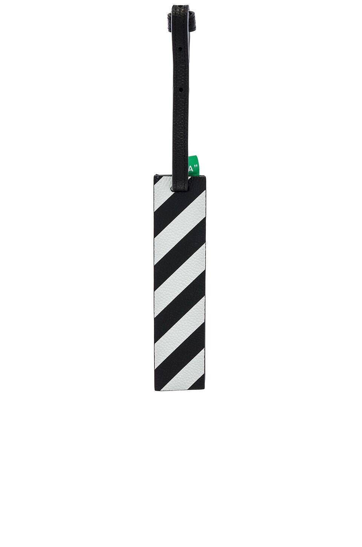 OFF-WHITE Diagonal Travel Tag in Black & White
