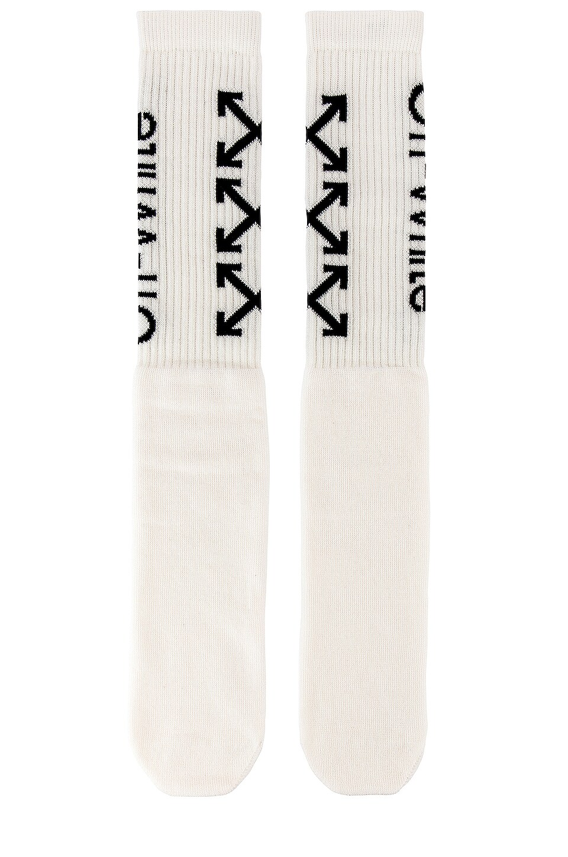 OFF-WHITE Arrows Socks in White & Black