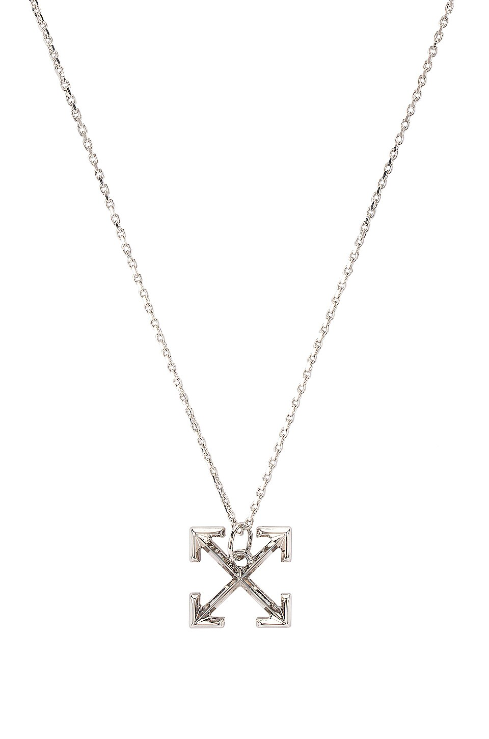 OFF-WHITE Small Arrows Necklace in Silver