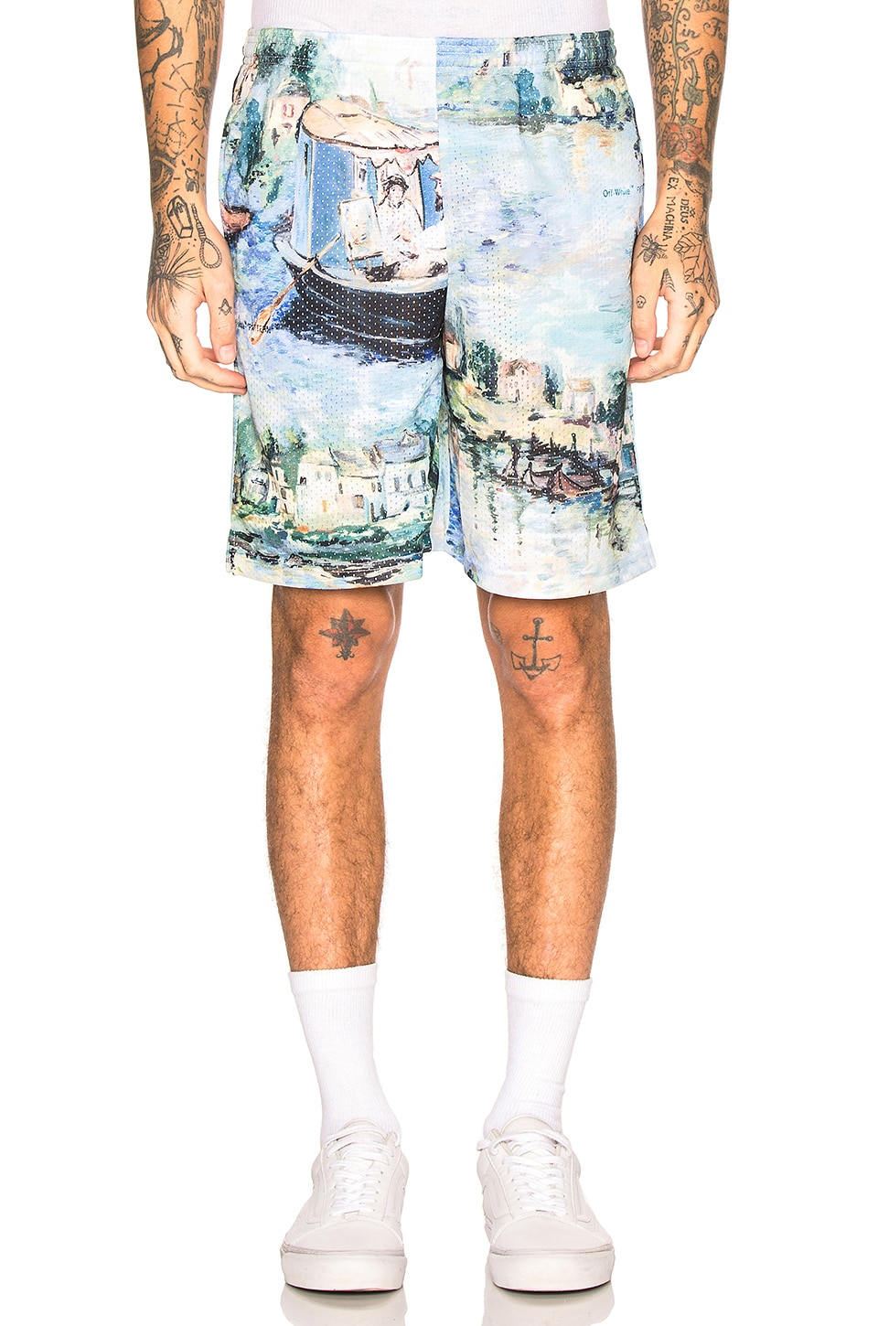 OFF-WHITE SHORT MAILLE MESH LAKE