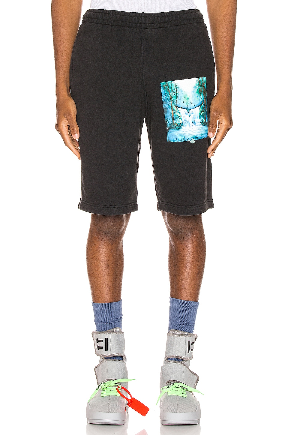 OFF-WHITE Waterfall Sweatshorts in Black Multi