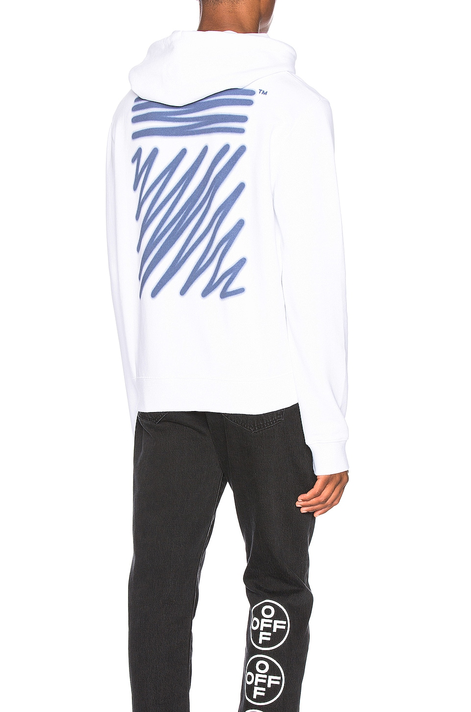 OFF-WHITE EXCLUSIVE Hooded Sweatshirt in White