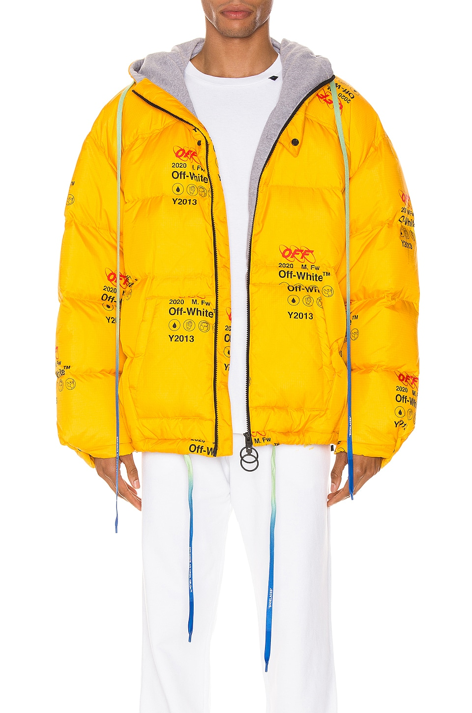 OFF-WHITE Industrial Zipped Puffer en Yellow