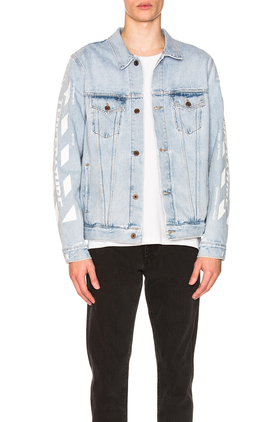 08d967362 OFF-WHITE Temperature Oversize Jacket in Blue | REVOLVE