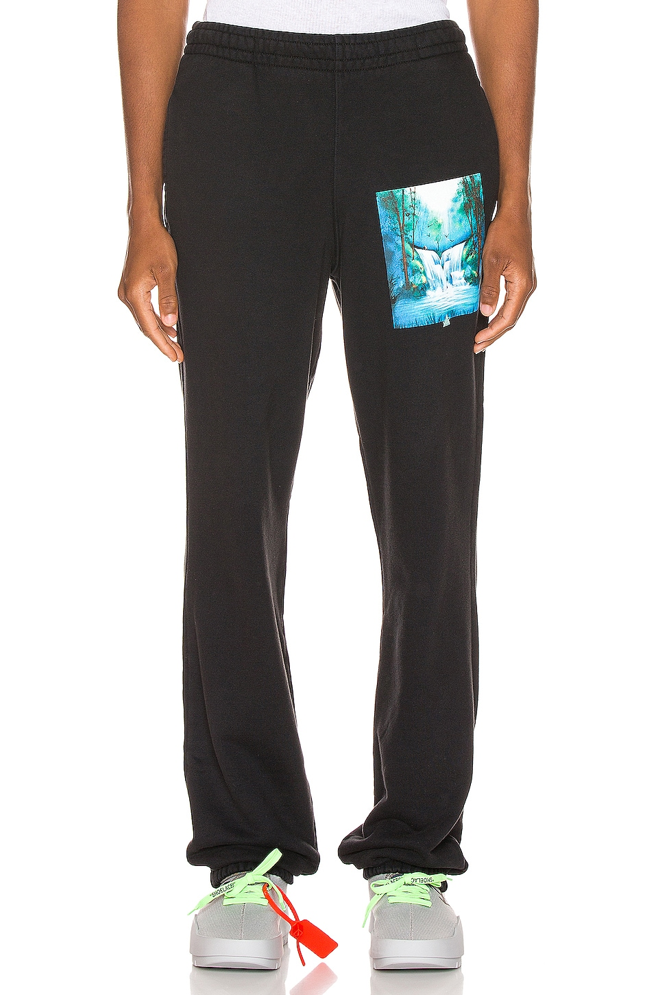 OFF-WHITE Waterfall Sweatpant in Black Multi