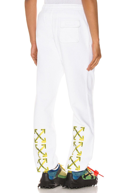 OFF-WHITE Acrylic Arrows Sweatpants en White