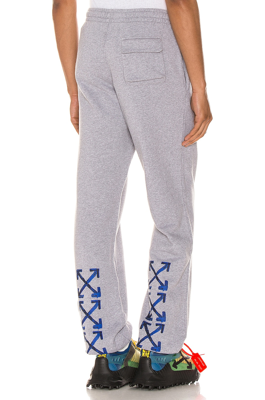 OFF-WHITE Acrylic Arrows Sweatpants en Grey