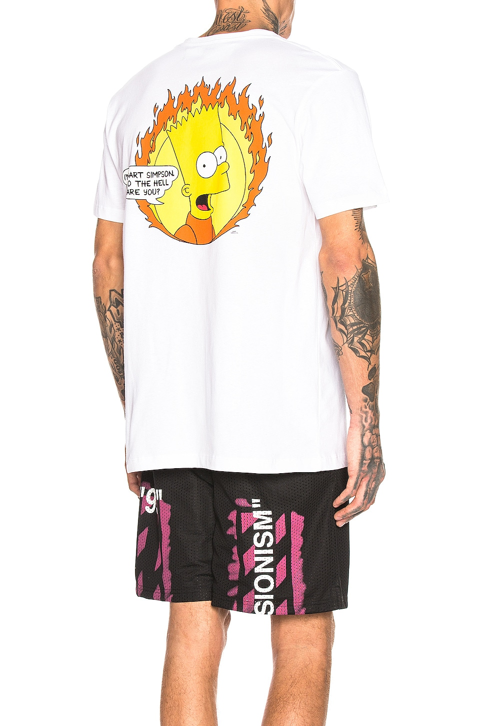 OFF-WHITE Flamed Bart Tee in White