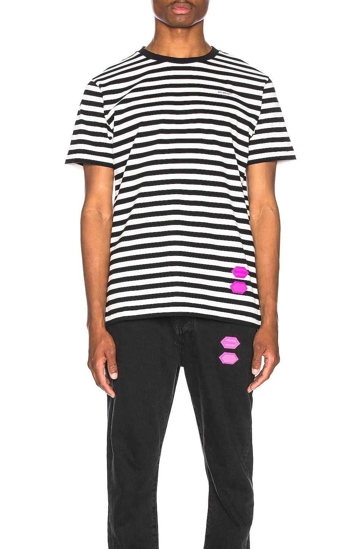 OFF-WHITE FWRD EXCLUSIVE STRIPED 티셔츠