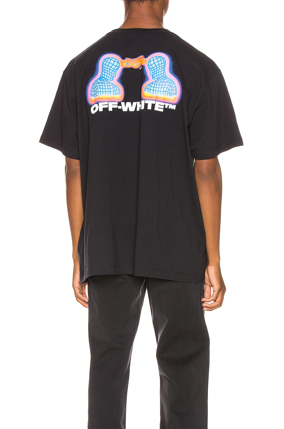 OFF-WHITE Thermo Oversized Tee in Black Multi