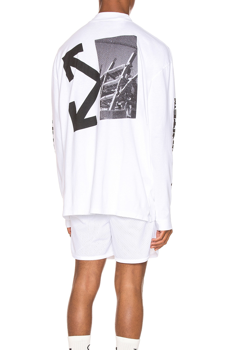 OFF-WHITE Splitted Arrows Over Mock Tee in White