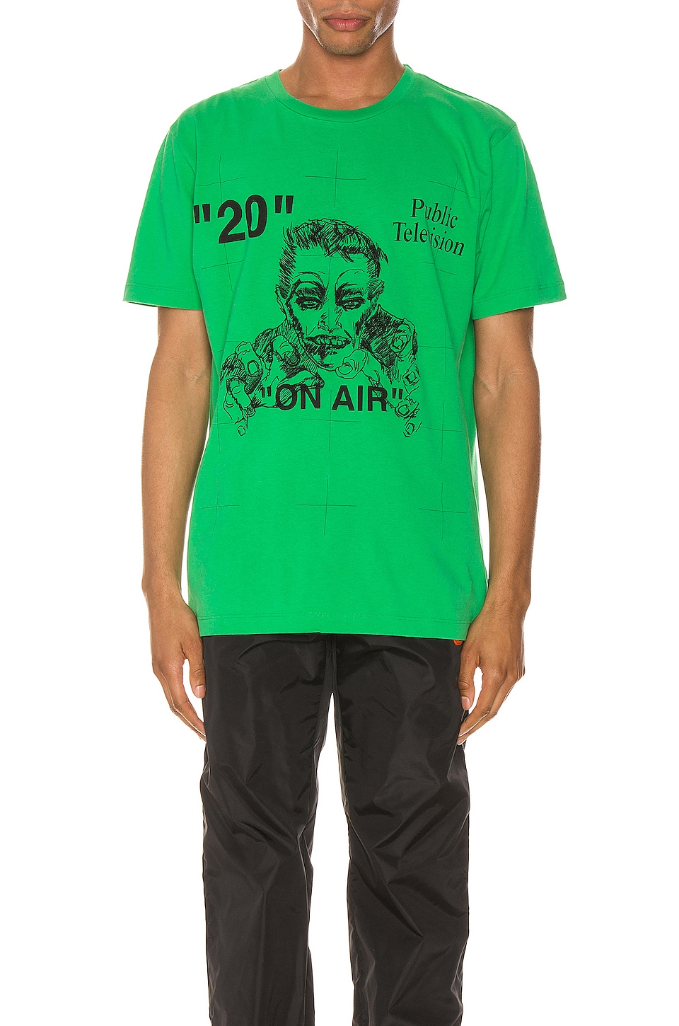 OFF-WHITE Mirko Artist Tee in Green & Black
