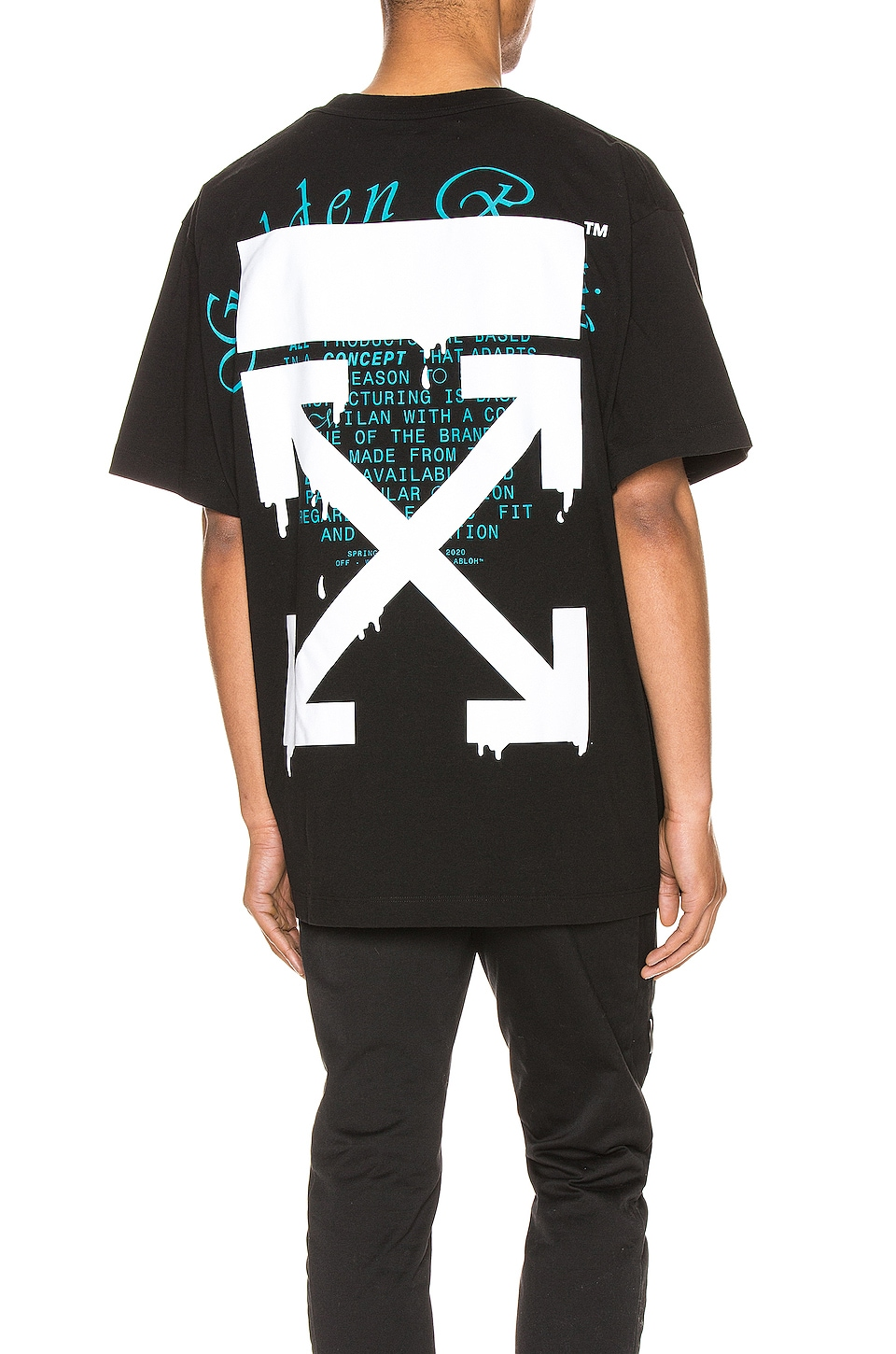 OFF-WHITE Dripping Arrows Over Tee in Black & White