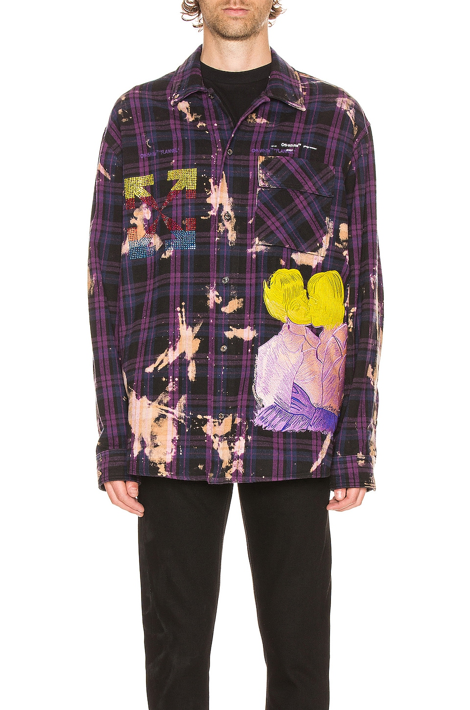 OFF-WHITE Flannel Check Shirt in Violet