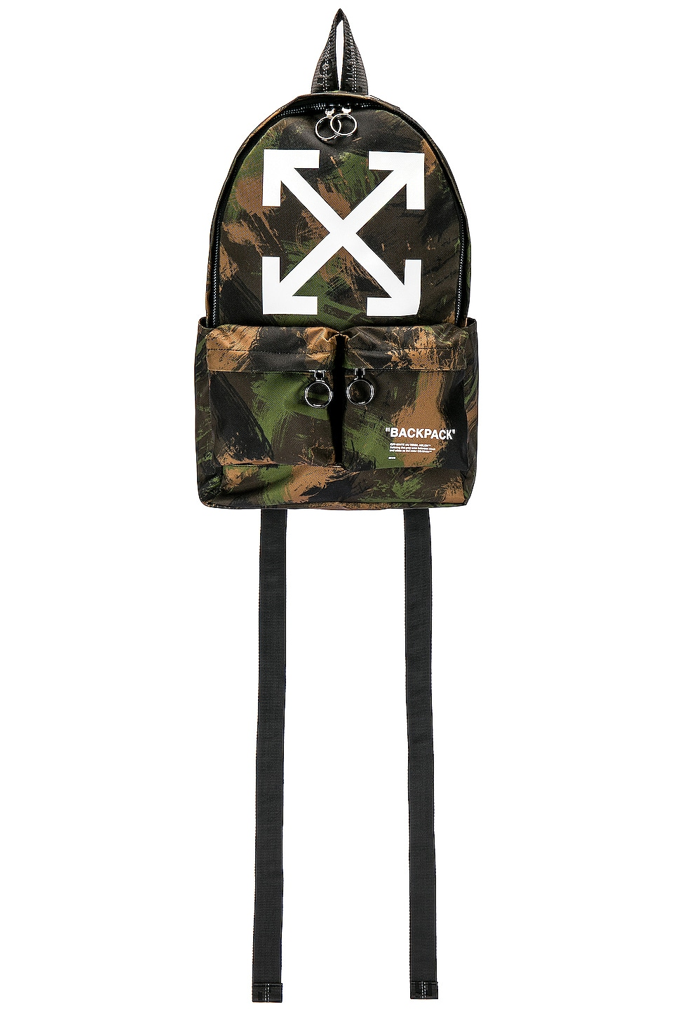OFF-WHITE Quote Backpack in Camo & White
