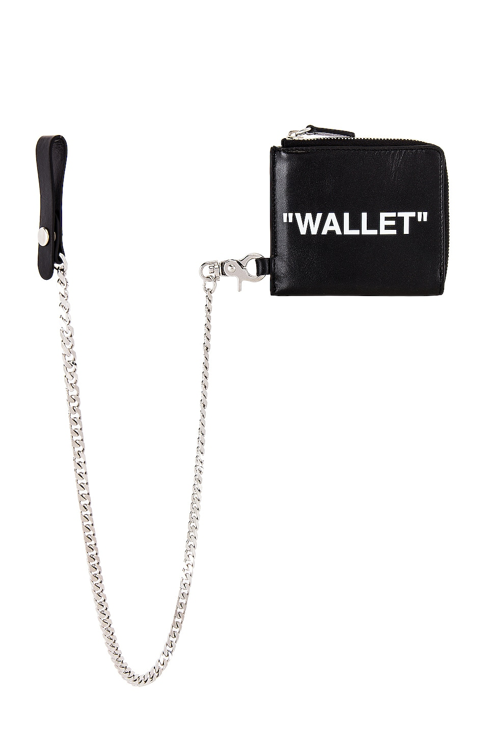OFF-WHITE Quote Chain Wallet in Black