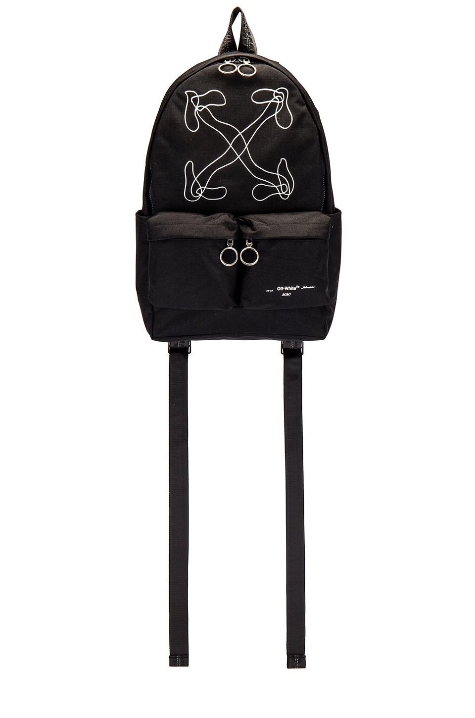 OFF-WHITE Abstract Arrows Backpack in Black & White