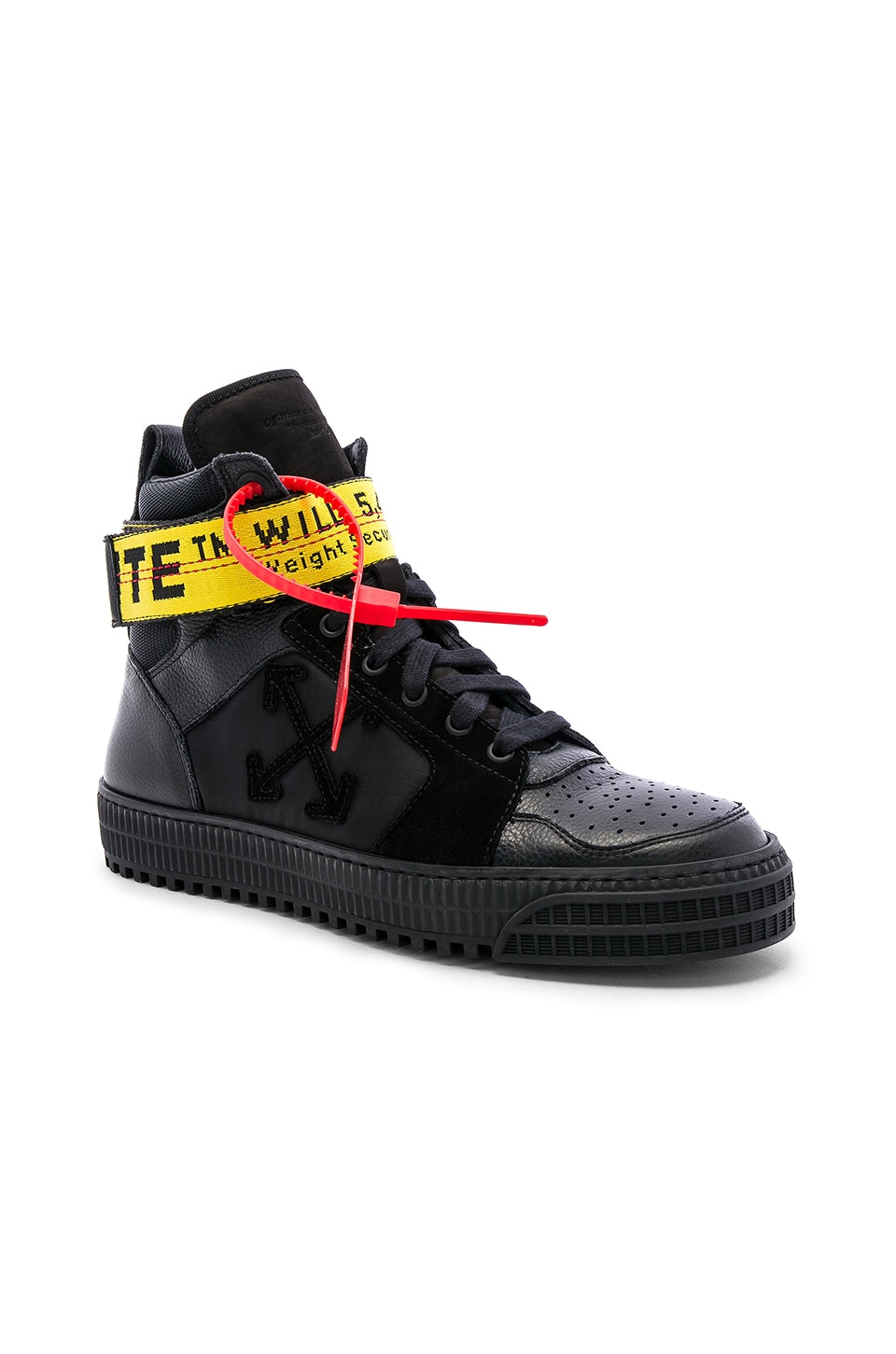 plus récent 005a9 2a4e0 OFF-WHITE Industrial Belt Hi-Top Sneaker in Black & Black ...