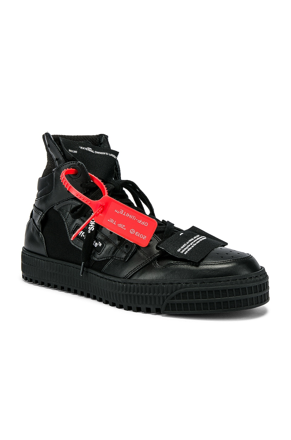 OFF-WHITE Off Court Sneaker in Black