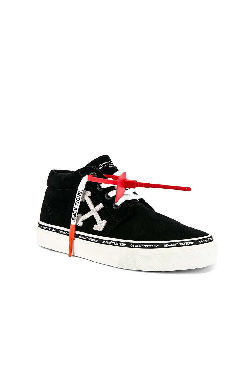 OFF-WHITE Skate Sneaker in Black & White
