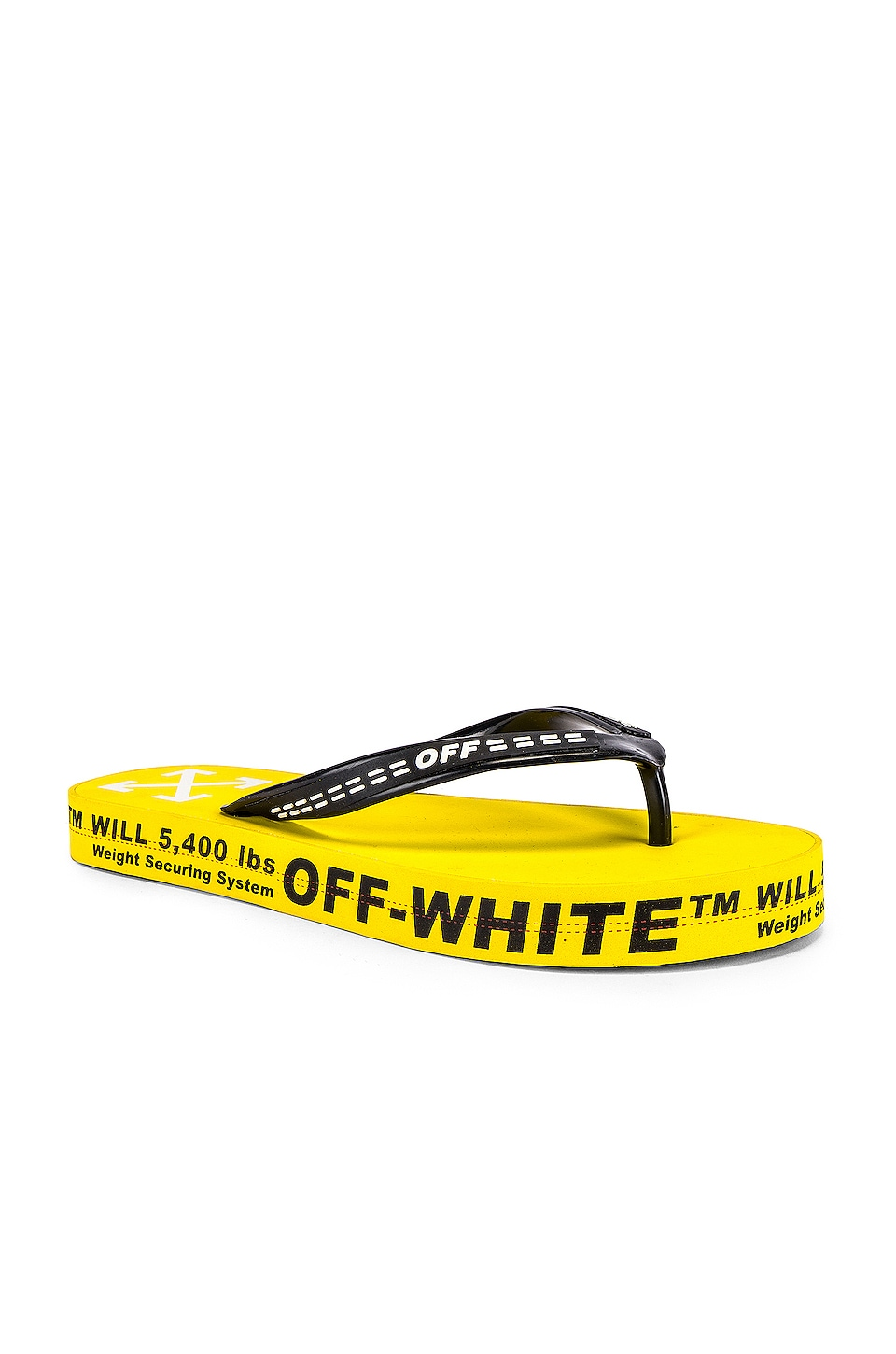 OFF-WHITE Flip Flop en Yellow