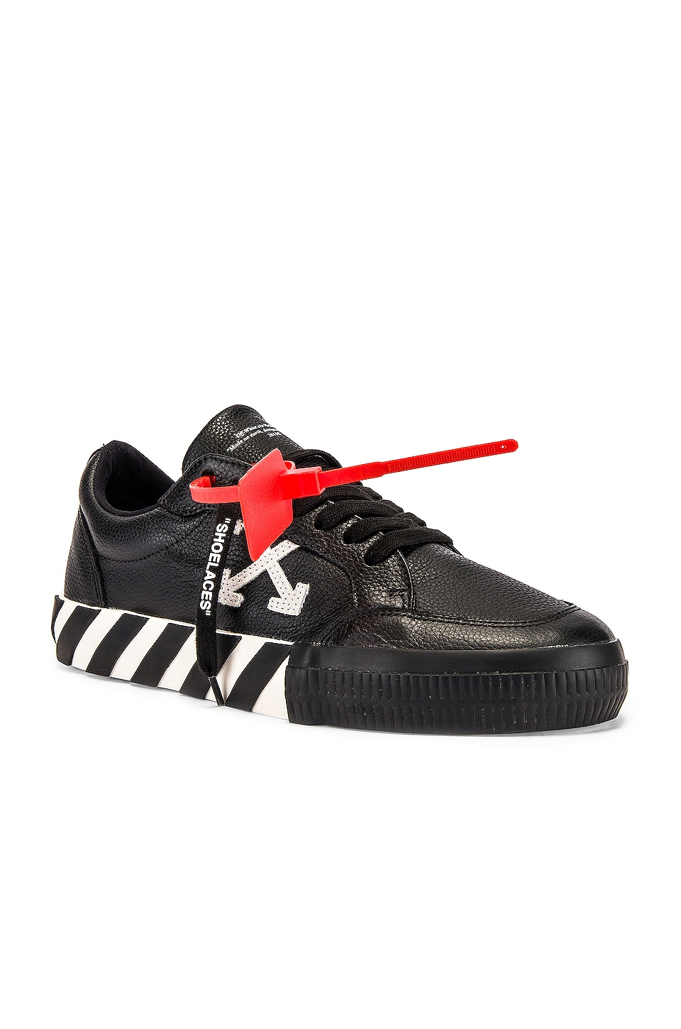 OFF-WHITE Low Vulcanized Sneaker in Black & White