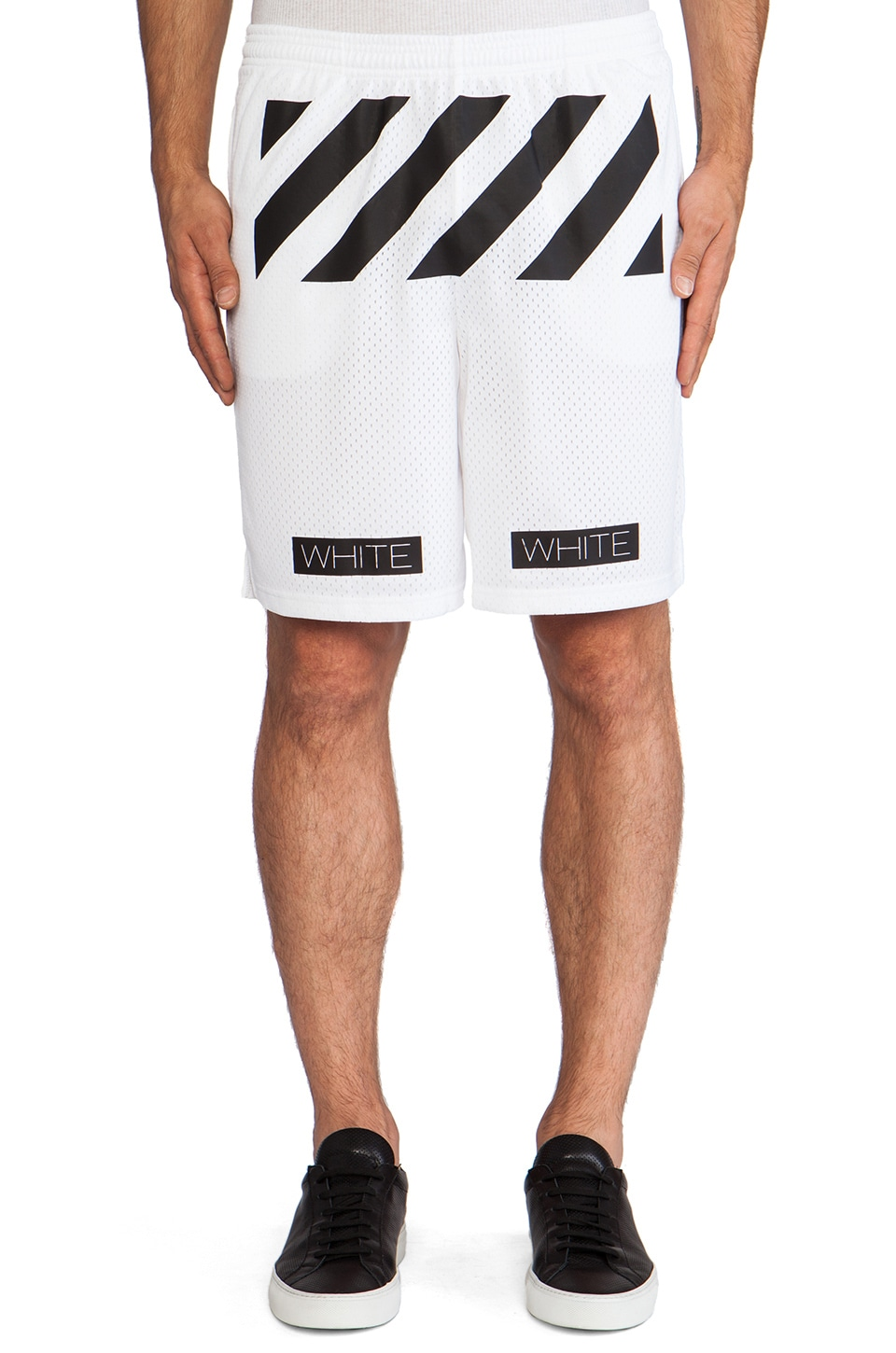 OFF-WHITE Mesh Short in White