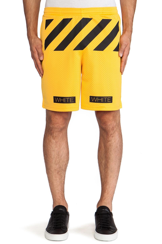 OFF-WHITE Mesh Short in Yellow