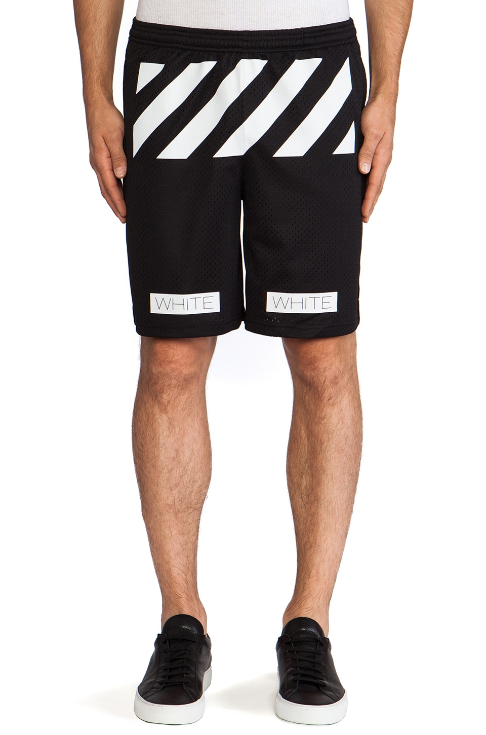 OFF-WHITE Mesh Short in Black