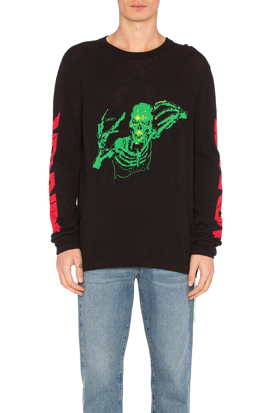 Skull Knit Rock Sweater by OFF-WHITE