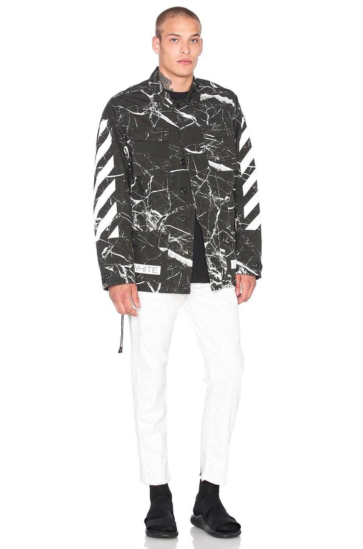 2140b0757962 OFF-WHITE Sahariana Jacket in Black Marble